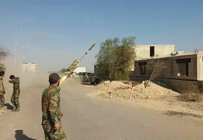 Quân đội Syria phóng tên lửa mặt đất vào quận Al-Qaboun
