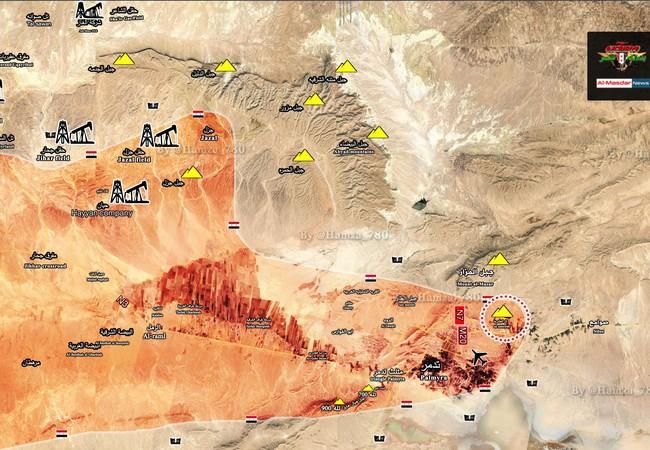Toàn cảnh chiến trường Palmyra ngày 07.03.2017