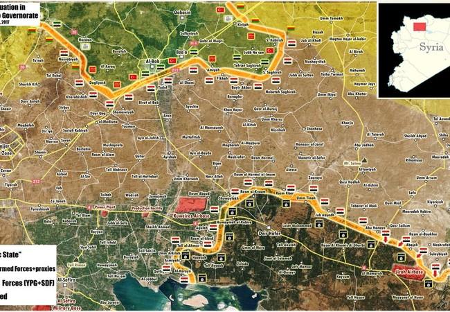 Chiến trường phía đông Aleppo tính đến ngày 08.03.2017