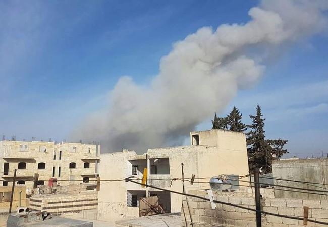 Cuộc không kích trên vùng trởi tình Idlib Syria