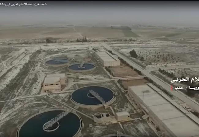 Trạm lọc nước trên vùng nông thôn phía đông Aleppo