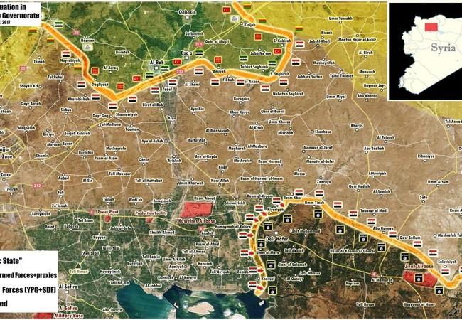 Bản đồ chiến sự đông Aleppo, ngày 17.03.2017
