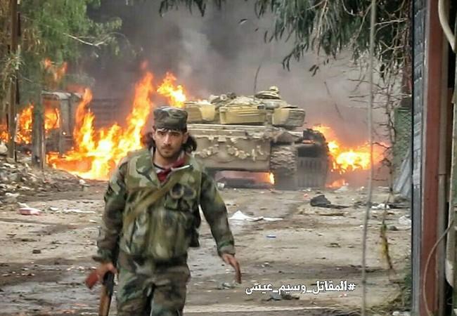 Binh sĩ quân đội Syria giải quyết chiến trường Jobar