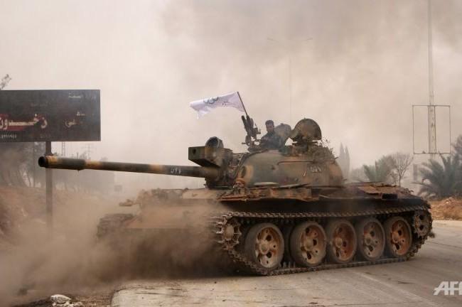 Xe tăng của lực lượng Hồi giáo cực đoan tấn công ở Jobar