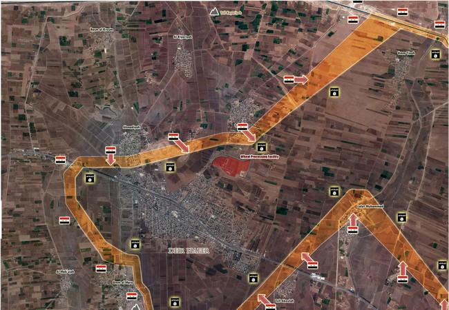 Bản đồ chiến sự khu vực phía đông Aleppo