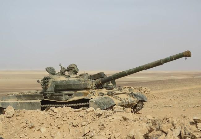 Xe tăng T-62 của quân đội Syria trên chiến trường (ảnh minh họa)