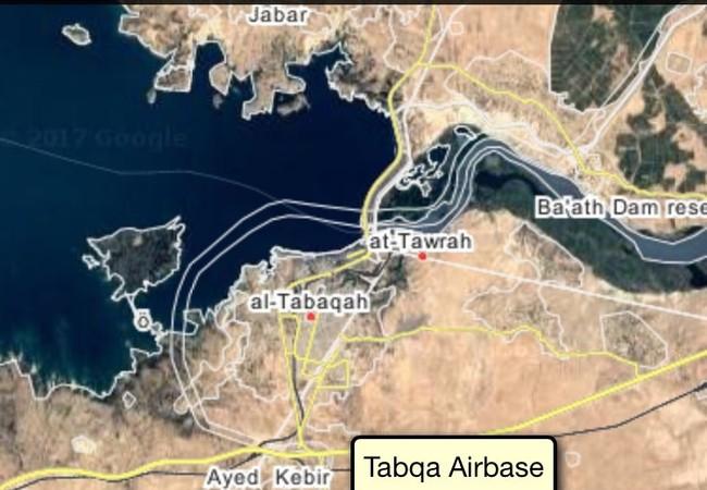 Vị trí sân bay quân sự Tabqa