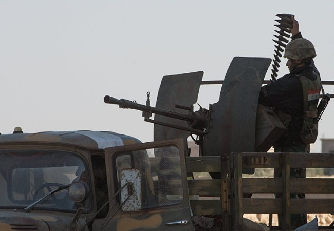 Binh sĩ quân đội Syria chuẩn bị ngăn chặn một đợt tấn công mới