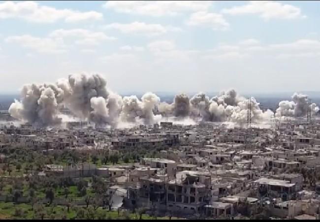 Quân đội Syria pháo kích ác liệt quận Al0Qaboun