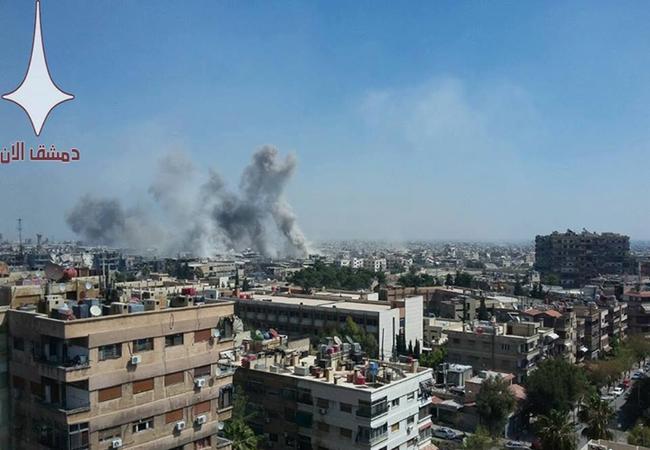 Không quân Syria không kích ở Jobar, Damascus
