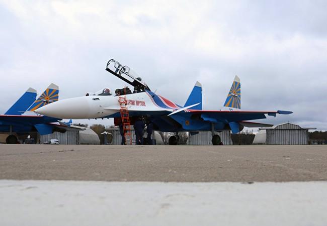 Máy bay tiêm kích biểu diễn Su-30SM Nga