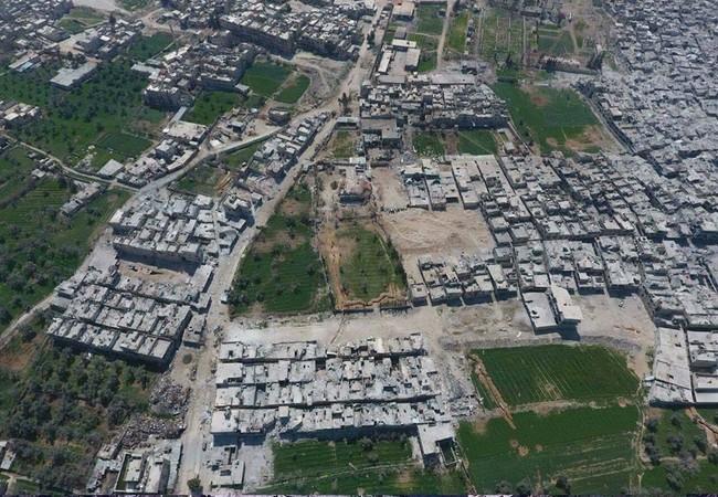 Toàn cảnh quận Al-Qaboun ngoại ô Damascus