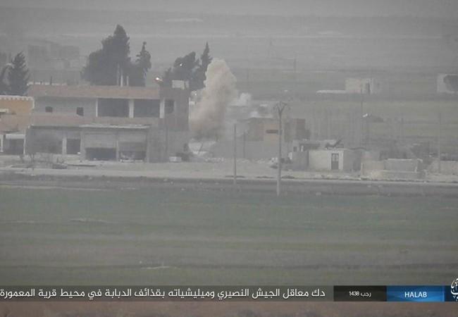Khu vực chiến trường, nơi IS liên tiếp tấn công xe tăng quân đội Syria ở Aleppo