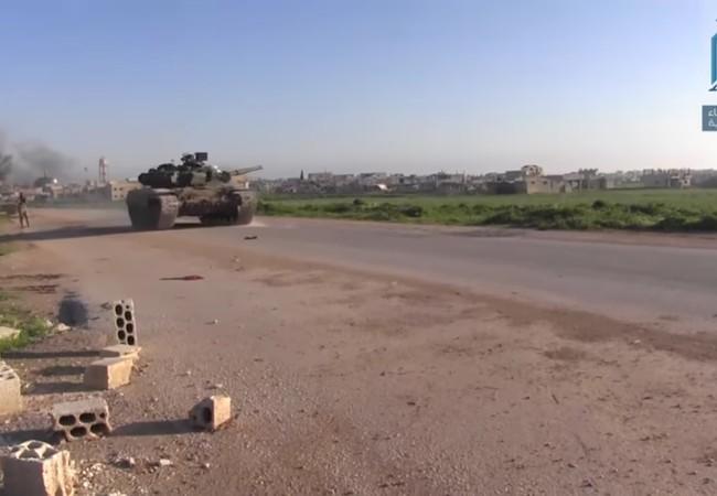 Lực lượng Hồi giáo cực đoan sử dụng xe T-90 cướp được tấn công quân đội Syria