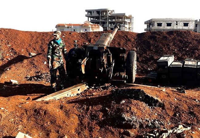 Pháo binh quân đội Syria pháo kích ở Daraa