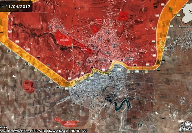 Bản đồ chi tiết vùng chiến sự quận Al – Manshiya thuộc thành phố Daraa