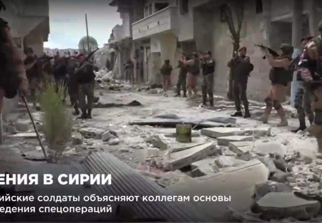 Quân đội Syria diễn tập cùng với quân đội Nga ở Aleppo