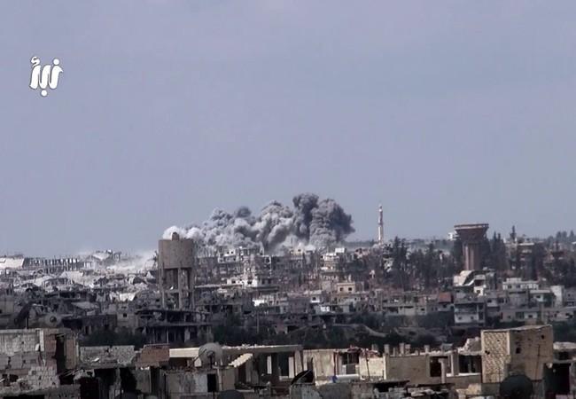Không kích kinh hoàng ở Daraa