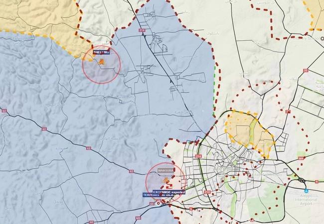 Bản đồ chiến sự phía tây thành phố Aleppo ngày 17.04.2017
