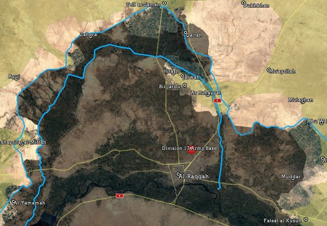 Bản đồ chiến sự chiến trường Raqqa