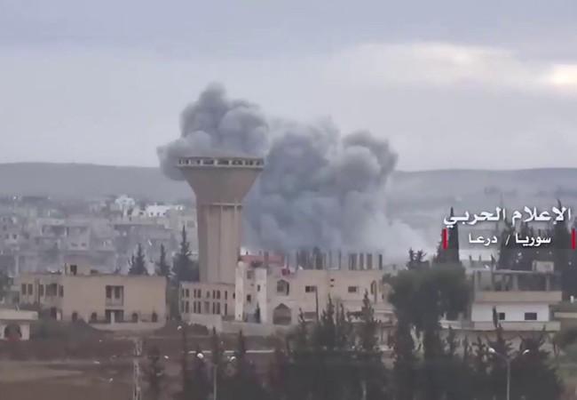 Không quân Nga, Syria không kich dữ dội ở Daraa