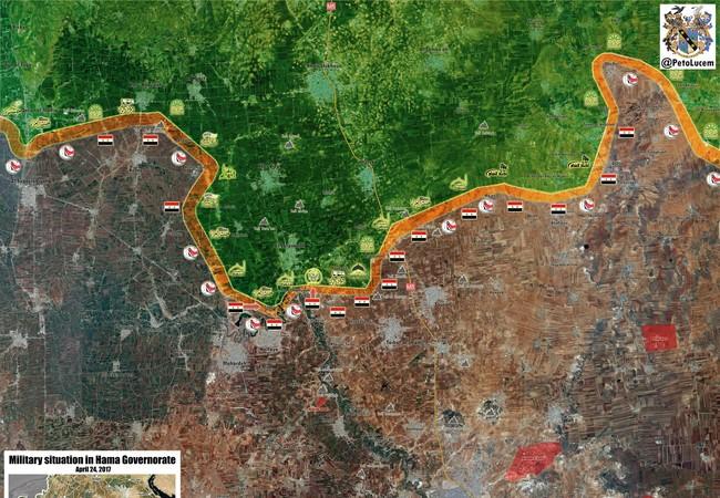 Tình hình chiến sự thành phố Hama tính đến ngày 24.04.2017