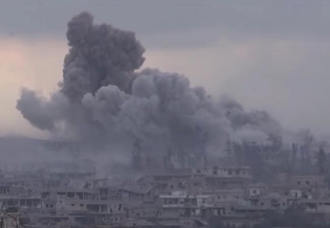 Không quân Syria không kích dữ dội thành phố Daraa