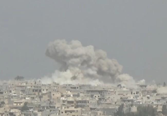 Không quân Nga - Syria không kích ác liệt vùng nông thôn miền bắc Hama