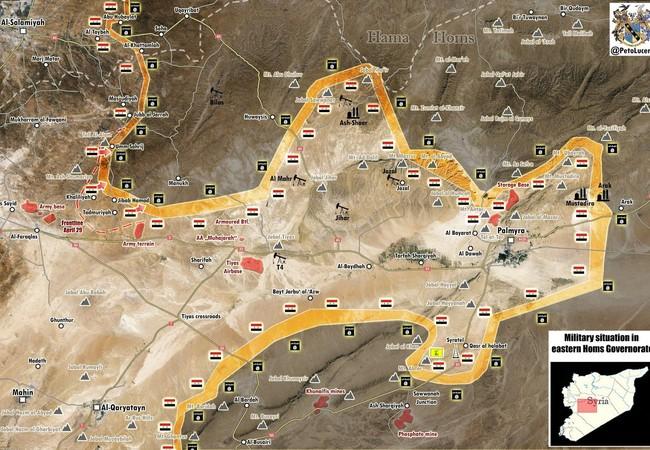 Bàn đồ tình hình chiến sự tỉnh Homs tính đến ngày 03.05.2017
