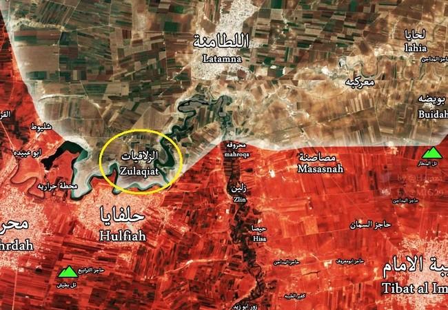Ngôi làng Zalaqiyat quân đội Syria giải phóng ngày 06.05.2017