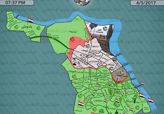 Toàn cảnh chiến trường thành phố Mosul tính đến ngày 04.05.2017