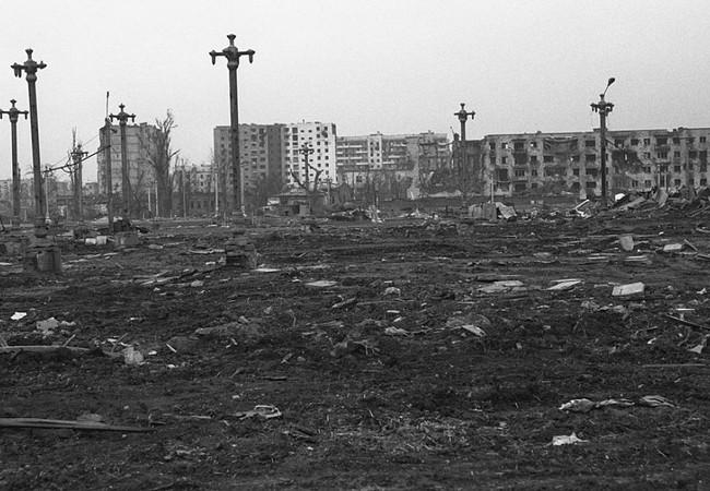 Khu vực chiến trường thành phố Grozny trong cuộc chiến tranh Checchnya, nơi được cho là diễn ra cuộc chiến bắn tỉa của xạ thủ Volodya - Yakut