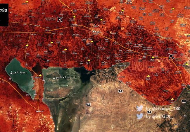 Bản đồ chiến sự vùng nông thôn Aleppo tính đến ngày 22.05.2017