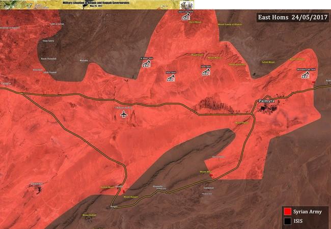 Các mũi tiến công của quân đội Syria trên vùng sa mạc tỉnh Homs