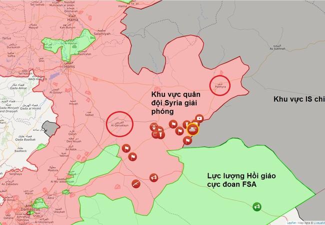 Toàn cảnh cuộc tấn công của quân đội Syria trên chiến trường Palmyra tính đến ngày 26.05.2017