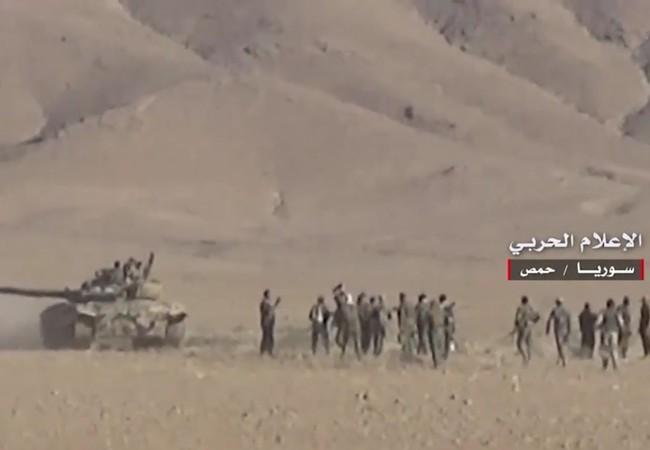 Quân đội Syria tấn công trên vùng sa mạc phía đông tỉnh Homs