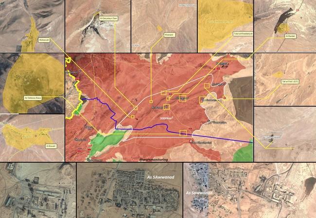 Những thị trấn then chốt trên vùng sa mạc phía đông tỉnh Homs được giải phóng