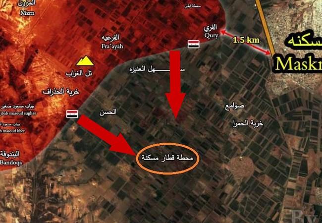 Quân đội Syria tiến công đánh chiếm nhà ga và khu dân cư thị trấn Maskanah