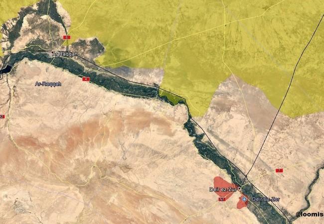 Toàn cảnh khu vực chiến trường Deir Ezzor so sánh với thành phố Raqqa, thủ đô tự xưng của IS