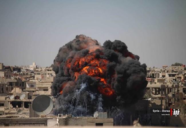 Không quân Syria không kích dữ dội vào chiến tuyến của phiến quân ở Daraa