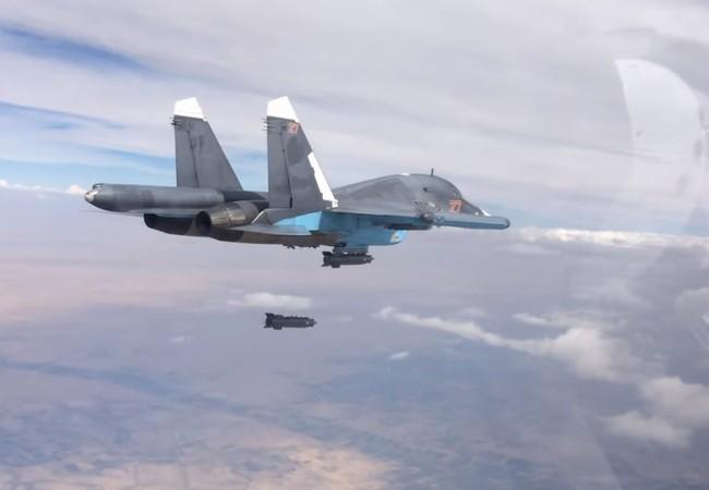 Máy bay Su-34 không quân Nga không kích ở Syria (ảnh minh họa)
