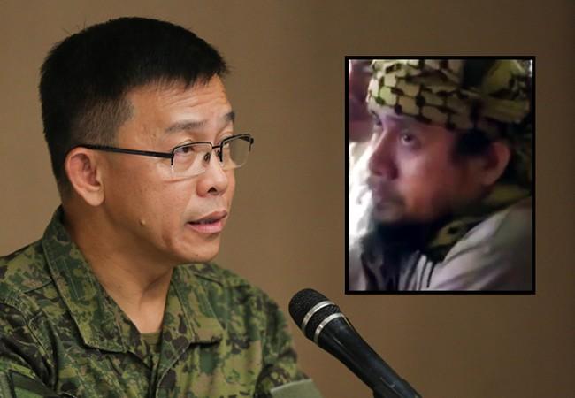 Chuẩn tướng Restituto Padilla Jr. Phát ngôn viên quân đội Philippines thông báo về tình hình chiến sự thành phố Marawi trong cuộc họp báo ngày 12.06.2017