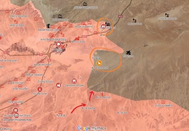 Tình hình chiến sự hướng Deir Ezzor, quân đội Syria tấn công các cao điểm quanh mỏ dầu Arak