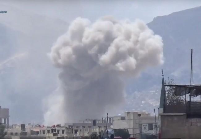 Không quân Syria pháo kích dữ dội Đông Ghouta
