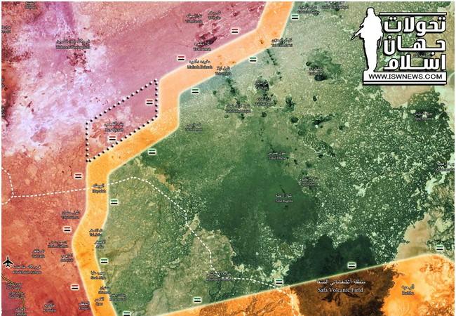 Khu vực Bir Qassab vừa được giải phóng thuộc Đông Ghouta