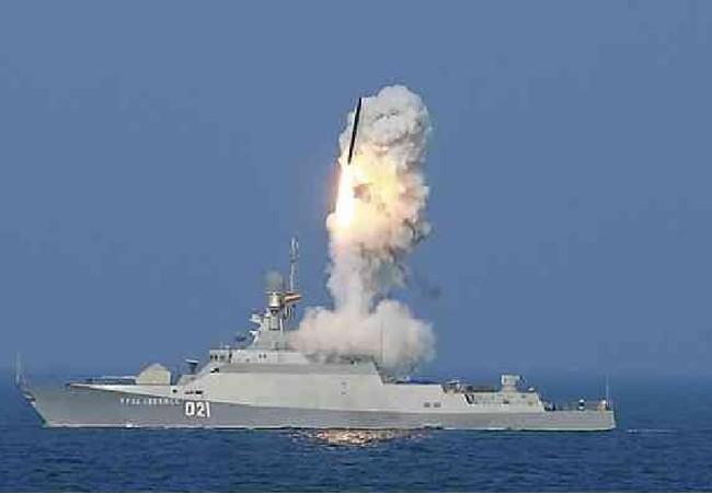 Chiến hạm Nga tiến hành cuộc tấn công tên lửa Kalibr từ Địa Trung Hải đánh vào IS ở tỉnh Hama