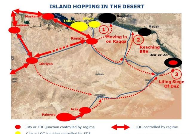 Vùng chiến thuật của lực lượng Tiger trên chiến trường tỉnh Raqqa