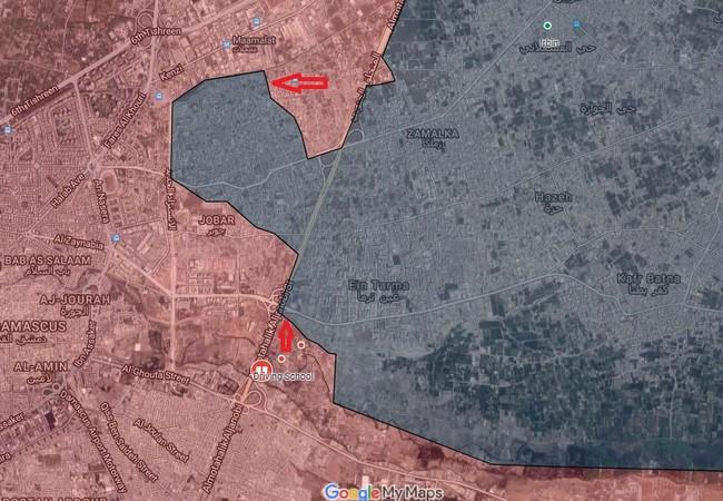 Cuộc tấn công vào khu vực thị trấn Jobar Đông Ghouta