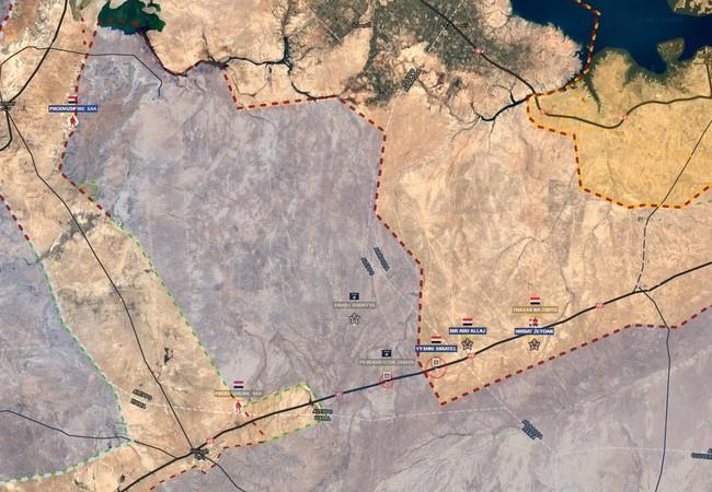 Sơ đồ chiến dịch bao vây tiêu diệt của lực lượng Tiger trên vùng nông thôn Raqqa