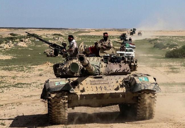 Binh sĩ Iraq tấn công trên chiến trường Mosul